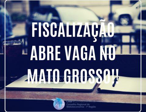 Fiscalização abre vaga no Mato Grosso