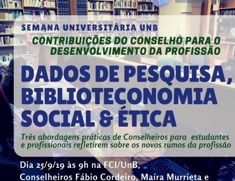 CRB-1 participará da Semana Universitária da FCI/UnB