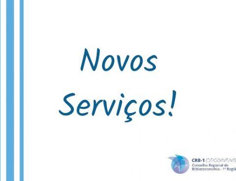 Novos Serviços!