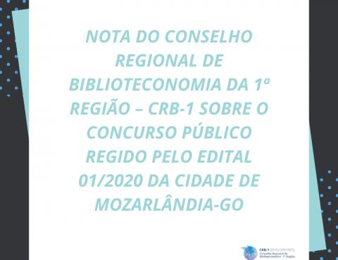 Nota sobre concurso de Mozarlândia – GO